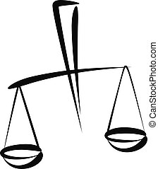Simple vector illustration of a libra. law concept