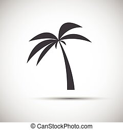 Simple vector illustration of a palm tree