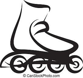 roller skate - Simple vector illustration of a roller skate