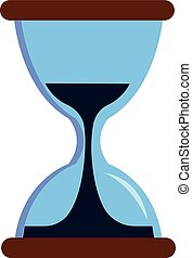 Simple vector illustration of a sandglass white background.