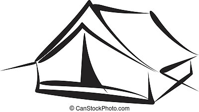 tent - Simple vector illustration of a tent sketch