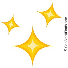 Simple vector illustration of a yellow christmas stars on white background
