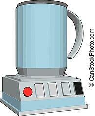 Simple vector illustration of an blue blender white background
