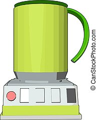 Simple vector illustration of an yellow blender white background