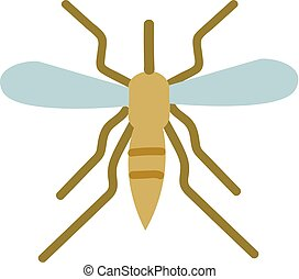 Simple vector illustration of mosquito on white background