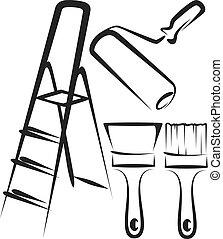 repair tools - Simple vector illustration of repair tools ...