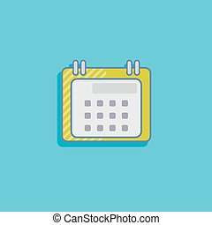 simple vector illustration with a calendar. flat icon design