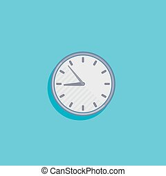 simple vector illustration with a clock icon flat design