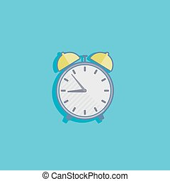 simple vector illustration with an alarm clock icon flat design