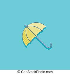 simple vector illustration with an umbrella. icon flat design