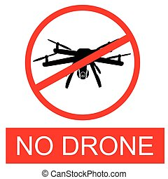 Simple Vector Prohibited Sign, No Drone