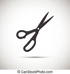 Simple vector scissors icon