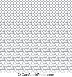 Simple vector seamless interlacing pattern - Simple...