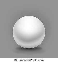 simple vector white sphere with shadow on grey