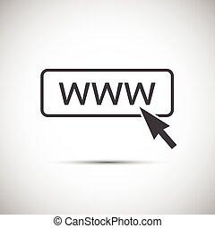 Simple vector www icon with cursor