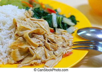 Simple vegetarian meal