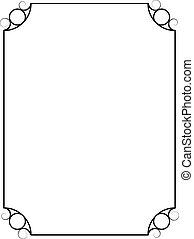 simple, vendange, cadre, isolé, arrière-plan., vecteur, blanc