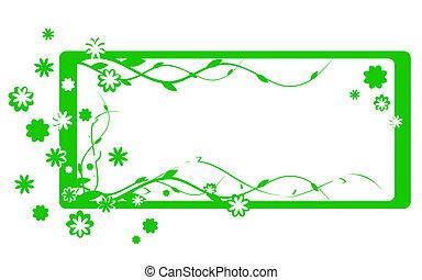 simple, verde, marco