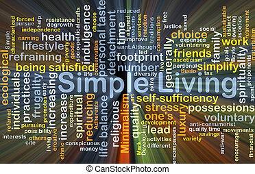 simple, vida, encendido, concepto, plano de fondo