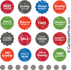 Simple vintage badges - Set of vintage retro premium quality...