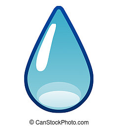 simple water drop illustration