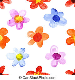 Simple watercolor flowers - Simple colorful watercolor...