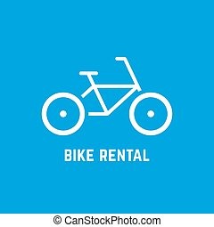 simple white bike rental icon
