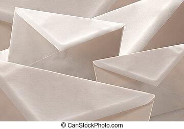 Simple white cheap envelopes background - Simple white cheap...