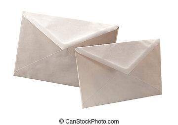 Simple white cheap envelopes