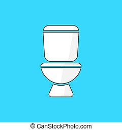 simple white toilet icon