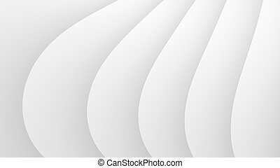 Simple white waves abstract background