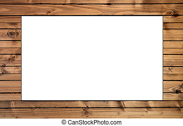 simple wood frame - isolated space with wood frame