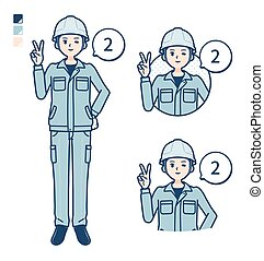 simple work wear Construction site man_Counting-as-2