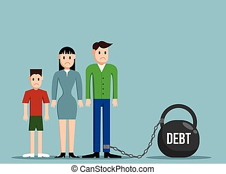 Simple Working Family in Debt Confined to Heavy Weight Flat Design