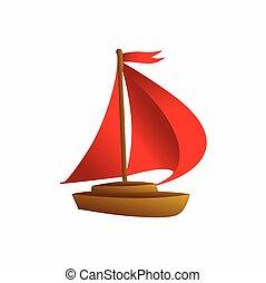 simple, yacht, logo, concept