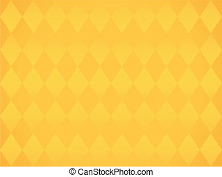 Simple yellow background with rombs vector