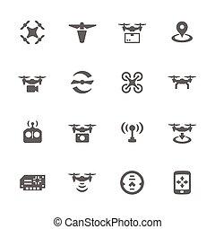 simple, zángano, iconos