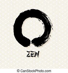 Simple Zen circle illustration traditional enso - Enso Zen...