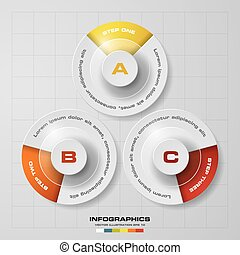 3 Steps chart diagrams template