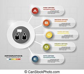 imple&Editable 5 Steps chart - Simple&Editable 5 Steps chart...