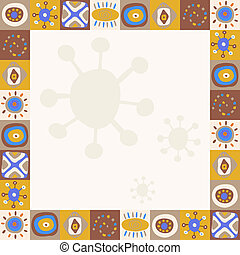 simples, abstratos, ornamentos, fundo, étnico