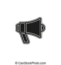 simples, alto-falante, megafone, vetorial, ícone