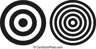 simples, bullseye, alvos, dois