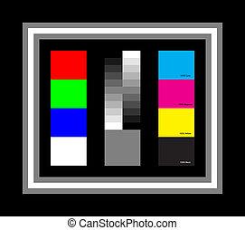 simples, carta cor