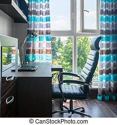simples, escritório lar