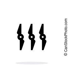simples, experiência., branca, ícone, rotores