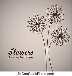 simples, flor, fundo
