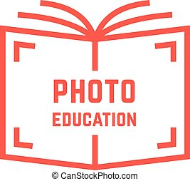 simples, foto, educação, logotipo