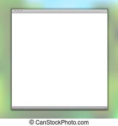 simples, janela, vetorial, browser