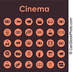 simples, jogo,  cinema, ícones